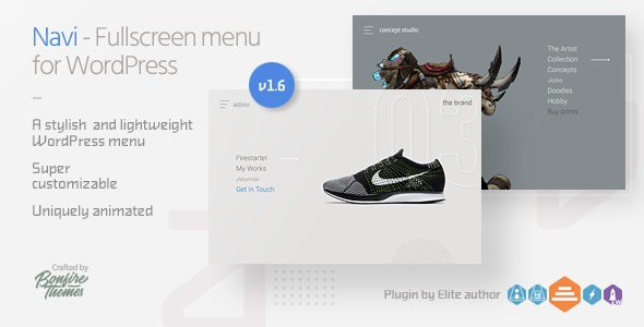 Navi v1.6 - Fullscreen WordPress Menu