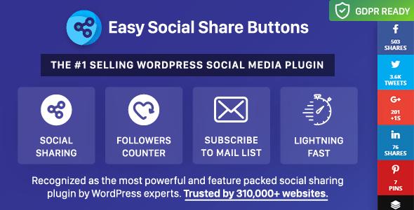 Easy Social Share Buttons for WordPress v6.2.9