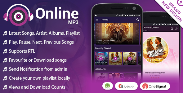 Android Online MP3 with Material Design