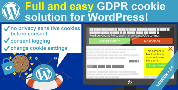 WeePie Cookie Allow v3.2.7 – Easy & Complete Cookie Consent