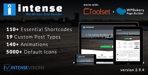 Intense v2.9.4 - Shortcodes and Site Builder for WordPress
