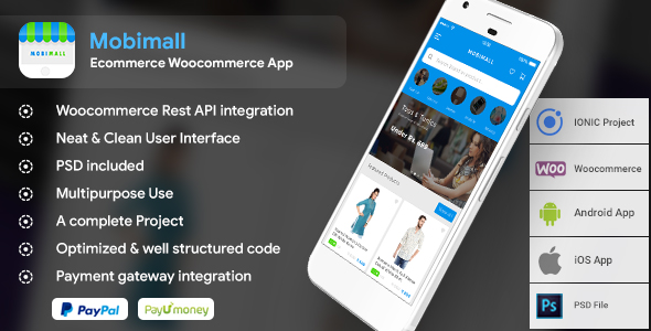 Mobimall – Ecommerce Woocommerce Android + iOS App IONIC 3