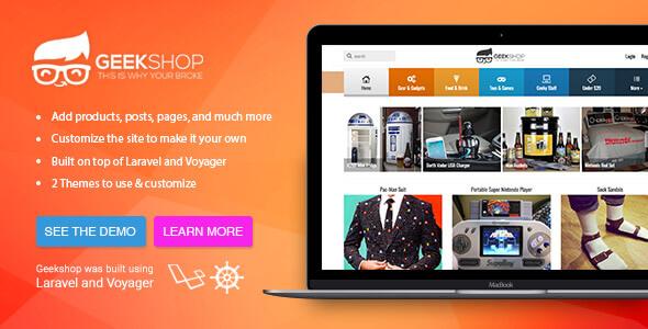 GeekShop – Geeky Cool Product Site