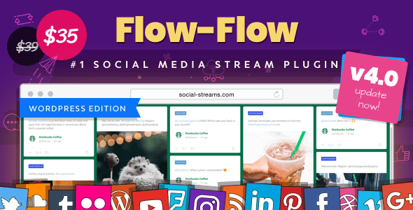 Flow-Flow v4.0.3 – WordPress Social Stream Plugin