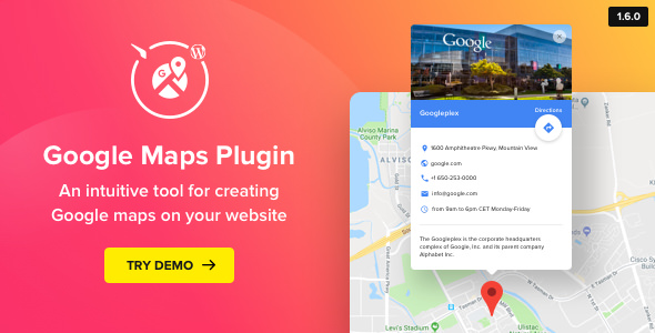 WP Google Maps v1.6.0 – Map Plugin for WordPress