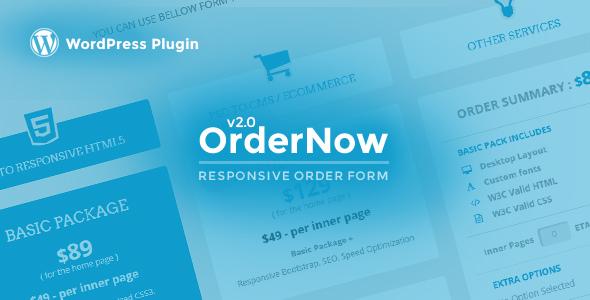 OrderNow v2.0.4 – Responsive PHP Order Form