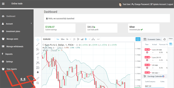 Online Trade – Online trading and cryptocurrency investment system.