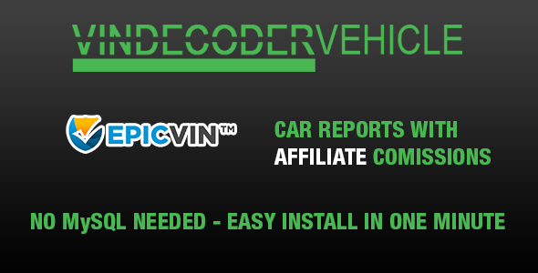 VIN Decoder Vehicle PRO + Epicvin Affiliate