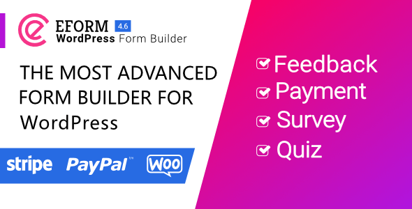eForm v4.6.0 – WordPress Form Builder