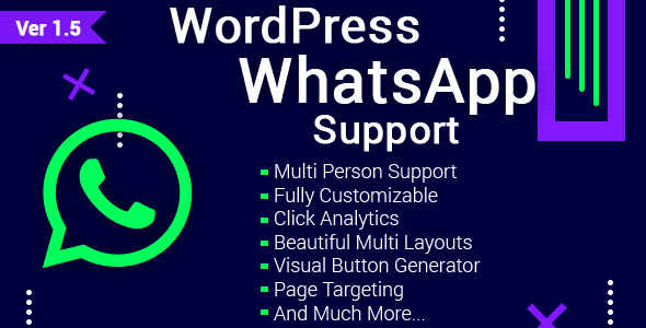 WordPress WhatsApp Support v1.5.1