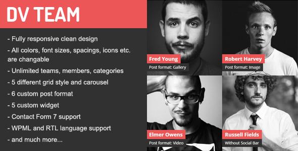 DV Team v1.7.1 - Responsive Team Showcase Plugin