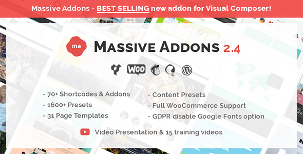 Massive Addons for WPBakery Page Builder v2.4.6