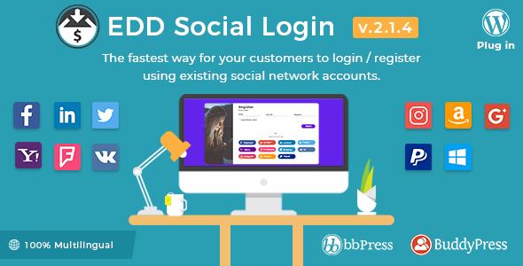 Easy Digital Downloads – Social Login v2.1.4