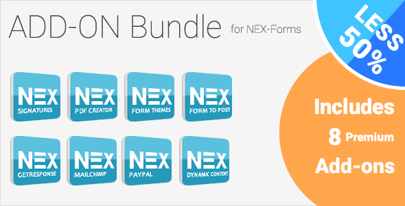 Add-on Bundle for NEX-Forms – WordPress Form Builder