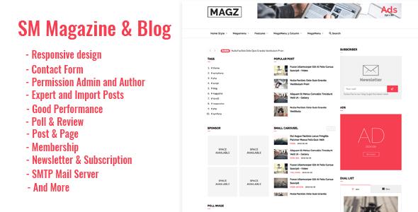 SM - Magazine News & Blog Script