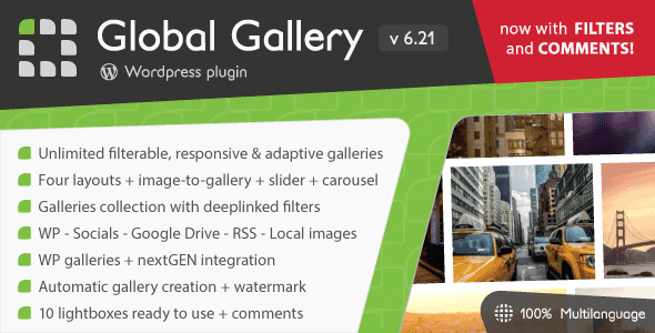 Global Gallery v6.21 - WordPress Responsive Gallery