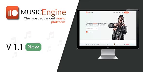 MusicEngine v1.1 – Social Music Sharing Platform – nulled
