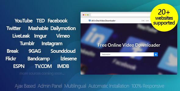 All in One Video Downloader v3.2 – Youtube and more – nulled