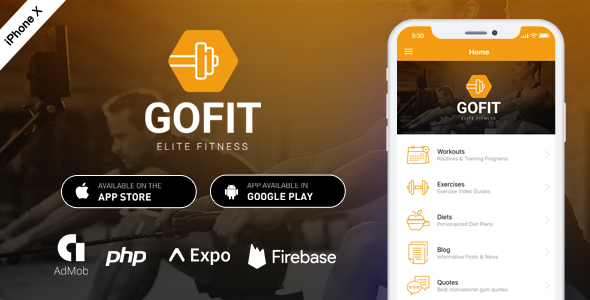 GoFit – Complete React Native Fitness App + Backend