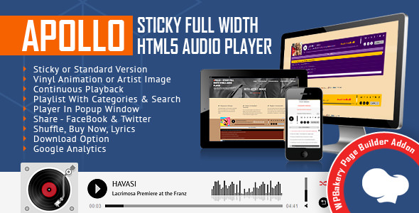 Apollo v1.4 - Audio Player for WPBakery Page Builder