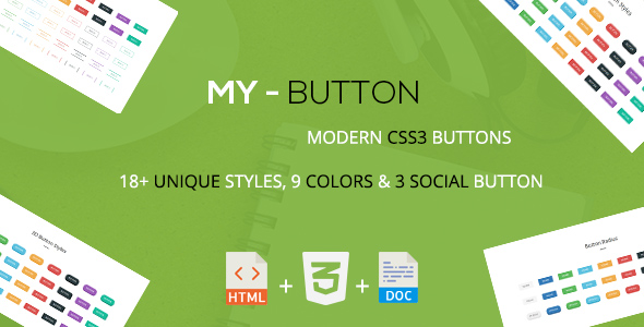 Mybutton - A Modern CSS3 Buttons Collection