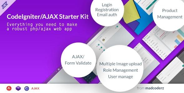 Steller – Codeigniter Starter Kit with Ajax