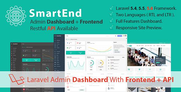 SmartEnd v4.4 – Laravel Admin Dashboard with Frontend and Restful API