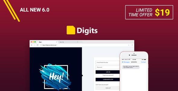 Digits v6.0.4 – WordPress Mobile Number Signup and Login