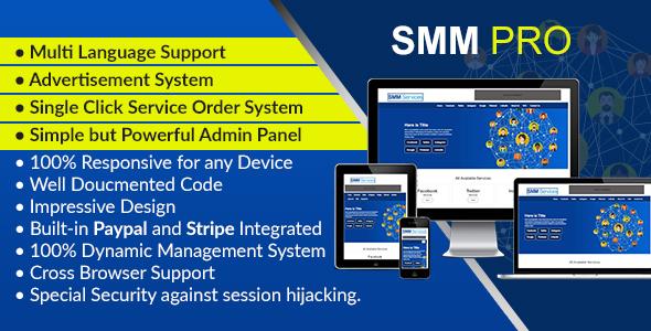 SMM Pro – Dynamic Social Media Marketing Services Script