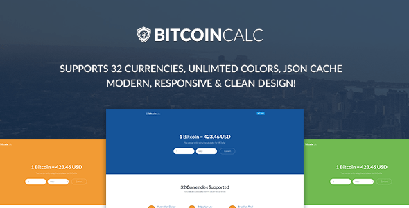 Bitcoin Calculator – Supports 32 Currencies