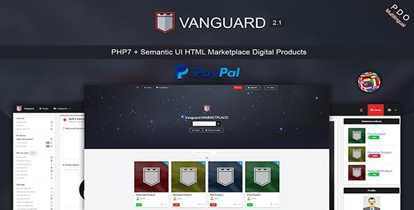 Vanguard v2.1 - Marketplace Digital Products PHP7