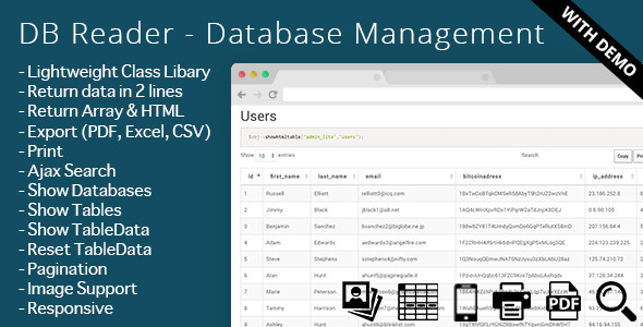 DB Reader – Database Management