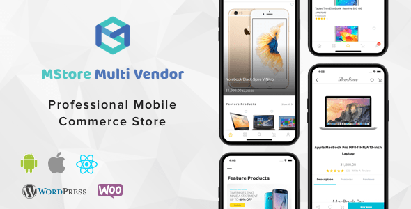 MStore Multi Vendor v1.2.2 – Complete React Native template for WooCommerce