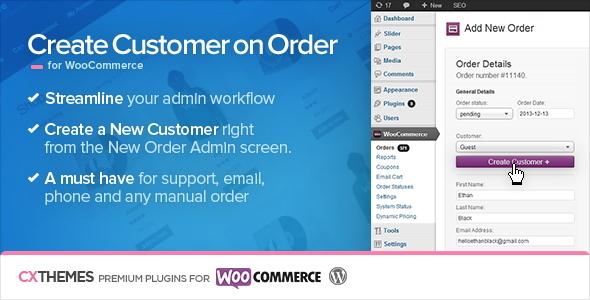 Create Customer on Order for WooCommerce v1.34