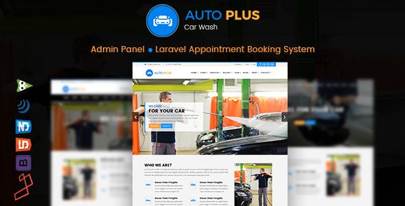 Auto Plus - Laravel Car Wash Booking