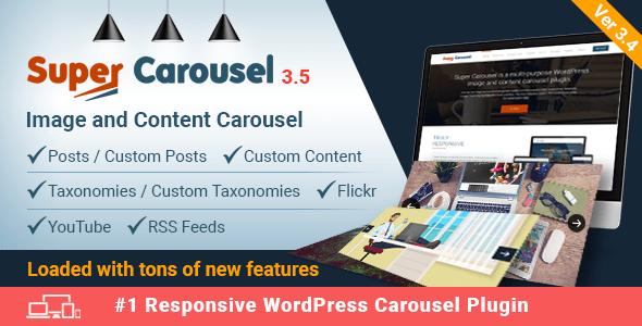 Super Carousel v3.5 – Responsive WordPress Plugin