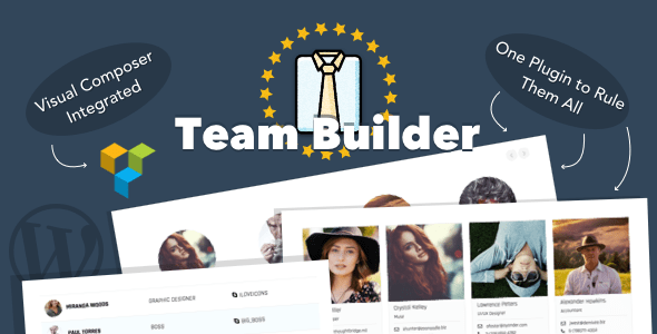 Team Builder v1.5.5 – Meet The Team WordPress Plugin