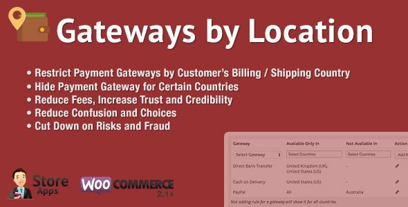 WooCommerce Gateways by Location v1.3.1