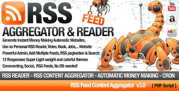 RSS Aggregator v3.8 – Niche Content RSS Site Builder