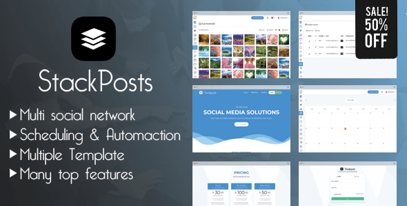 Stackposts v2.2 – Social Marketing Tool
