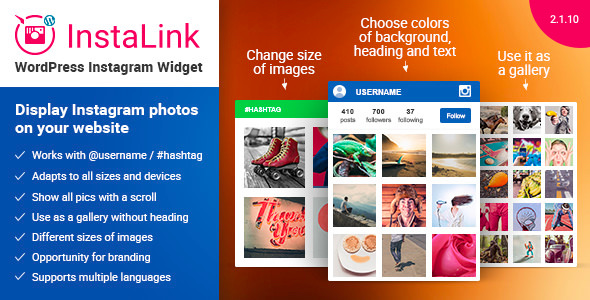 Instagram Widget v2.1.10 – Instagram for WordPress
