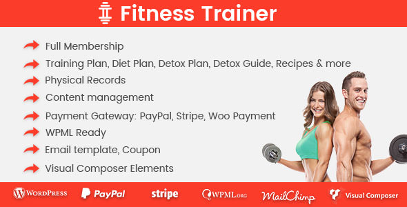 Fitness Trainer v1.2.4 – Training Membership Plugin
