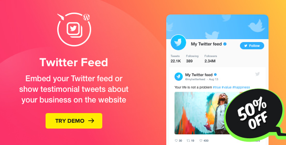 Twitter Feed v1.0 - WordPress Twitter Plugin