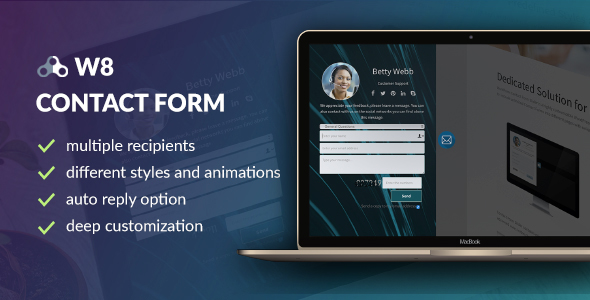 W8 Contact Form v1.5.5 – WordPress Contact Form Plugin