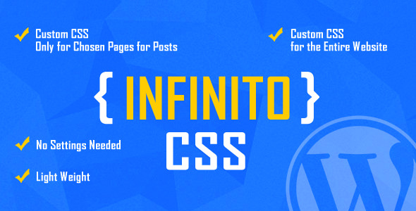 INFINITO v1.1 – Custom CSS for Chosen Pages and Posts