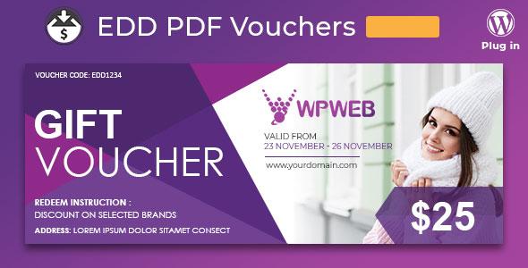 Easy Digital Downloads - PDF Vouchers v2.0.9