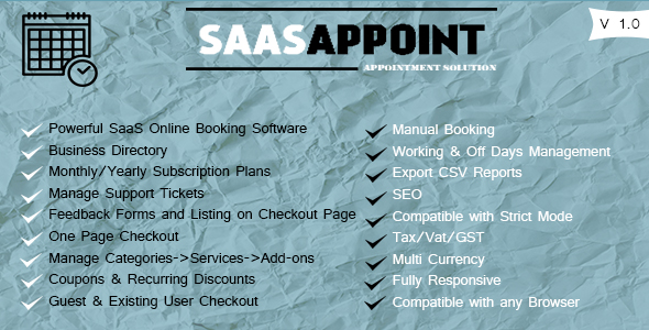SaasAppoint Free Download