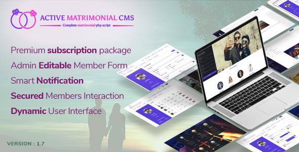 Active Matrimonial CMS v1.7