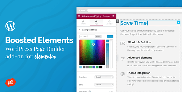 Boosted Elements v2.2 – Builder Add-on for Elementor