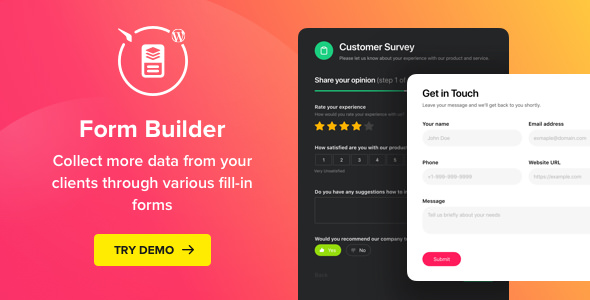 Form Builder v1.4.0 - WordPress Form plugin